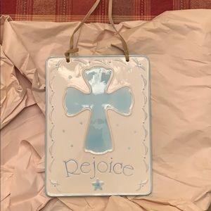 Porcelain Baptism sign.